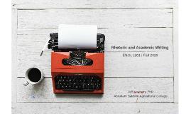 Rhetoric and Academic Writing