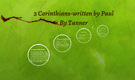 2 Corinthians written by Paul