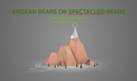 ANDEAN BEARS OR SPECTACLED BEARS