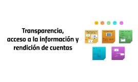 Métodos de Transparencia  y Rendición de Cuentas
