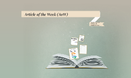 Article of the Week (AoW)