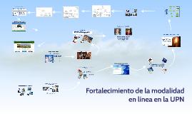 Fortalecimiento de la modalidad en línea en la UPN