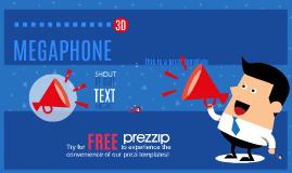 FREE TEMPLATE - Megaphone Guy 3D