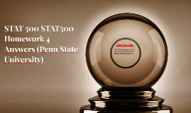 STAT 500 STAT500 Homework 4 Answers (Penn State University)