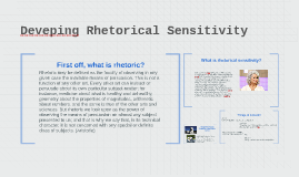 Deveping Rhetorical Sensitivity