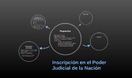 Inscripción en el Poder Judicial de la Nación