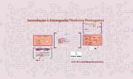 Copy of MC 8 introdução à Paleografia Moderna Portuguesa