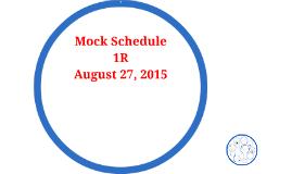 mock schedule by jill reuber on prezi