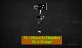 Five Phases in Planning for a Change