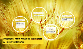 Copyright: From Wilde to Wordpress & Fosse to Beyonce