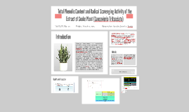 Total Phenolic Content and Radical Scavenging Activity of th
