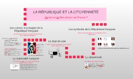 3ème - LA RÉPUBLIQUE ET LA CITOYENNETÉ