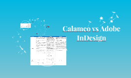 Calameo vs Adobe InDesign