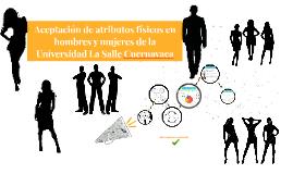 Aceptación de atributos físicos en hombres y mujeres de la U