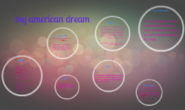 my american dream-