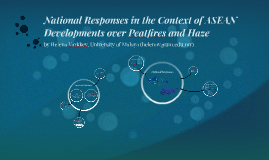 National Responses in the Context of ASEAN Developments over