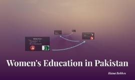 Women's Role in Pakistan