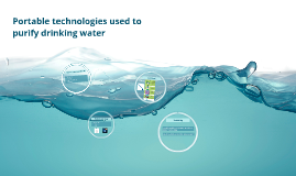 Portable technologies used to purify drinking water
