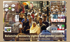 Balancing minority rights and gender justice