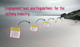 Employment laws and Regulations  for the clothing industry