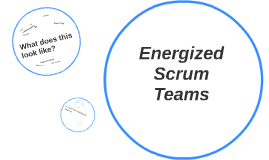 Energized scrum teams