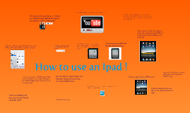 How To Use An Ipad !