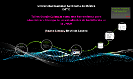 Taller: Google Calendar como una herramienta  para administr