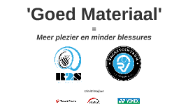 Copy of 'Goed Materiaal'