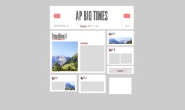 AP BIO TIMES