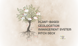 PLANT-BASED GEOLOCATION MANAGEMENT SYSTEM PITCH DECK