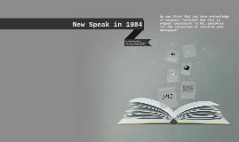 New Speak in 1984