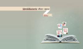 Språkhistorie 1800-1900