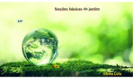 Noçoes básicas de jardim