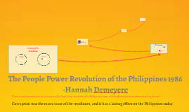 The People Power Revolution of the Philippines 1986