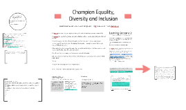 evaluate the effectiveness of systems and processes in promoting equality diversity and inclusion Promote equality, diversity and inclusion  32 evaluate the effectiveness of systems and processes in promoting equality, diversity and inclusion.