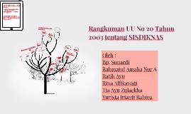 Rangkuman UU No 20 Tahun 2003 tentang SISDIKNAS