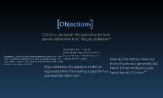 Trial Objections Presentation Project