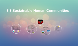 3.3 Sustainable Human Communities