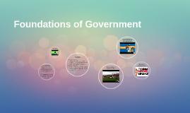 Foundations of Gov't