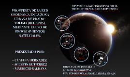 PROPUESTA DE LA RED GEODESICA EN LA ZONA URBANA DE PRADO-TOL