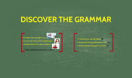 DISCOVER THE GRAMMAR  (A06)