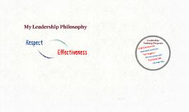 My Leadership Philosophy