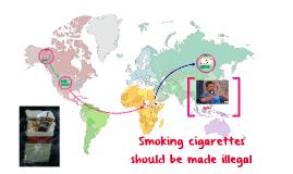 Smoking cigarettes shoul