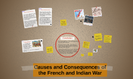Causes and Consequences of the French and Indian War