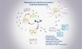 PROGRAMA DE CONTROL DE VIDRIO Y PLASICO QUEBRADIZO