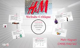 H&M Website Critique