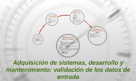 Adquisición de sistemas, desarrollo y mantenimiento: validac
