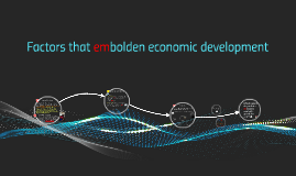 Factors that embolden economic development