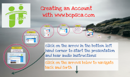 Creating an Account with BC PSCA