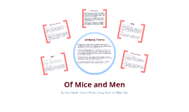 of mice and men final project In the story of mice and men by john steinback it represents the true story of an american dream in the novel, it shows the struggle to overcome and live the lives that the character's wish to.